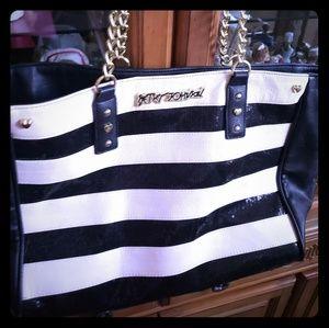 Large Betsey Johnson Sequins Bag Purse